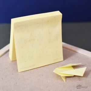 Bloc-notes autocollantes Origami