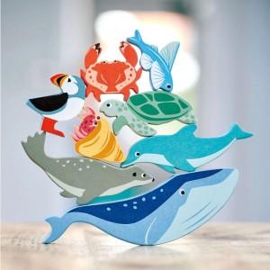 Jouets en bois figurines de la mer