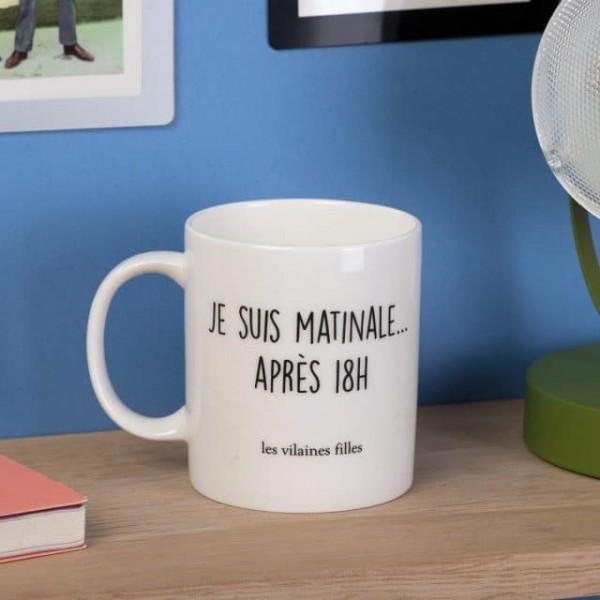 """Mug """"Je suis matinale après 18h"""""""