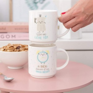Mugs empilables mariage