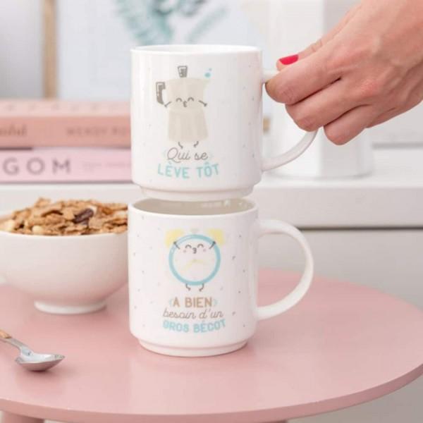 Mugs empilables mariage