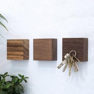 Cube en bois magnétique multi-usages