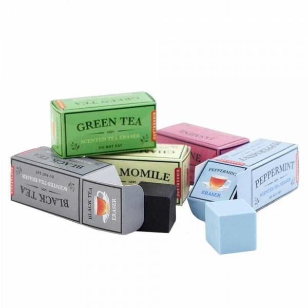 Gommes parfumées boîtes de thé